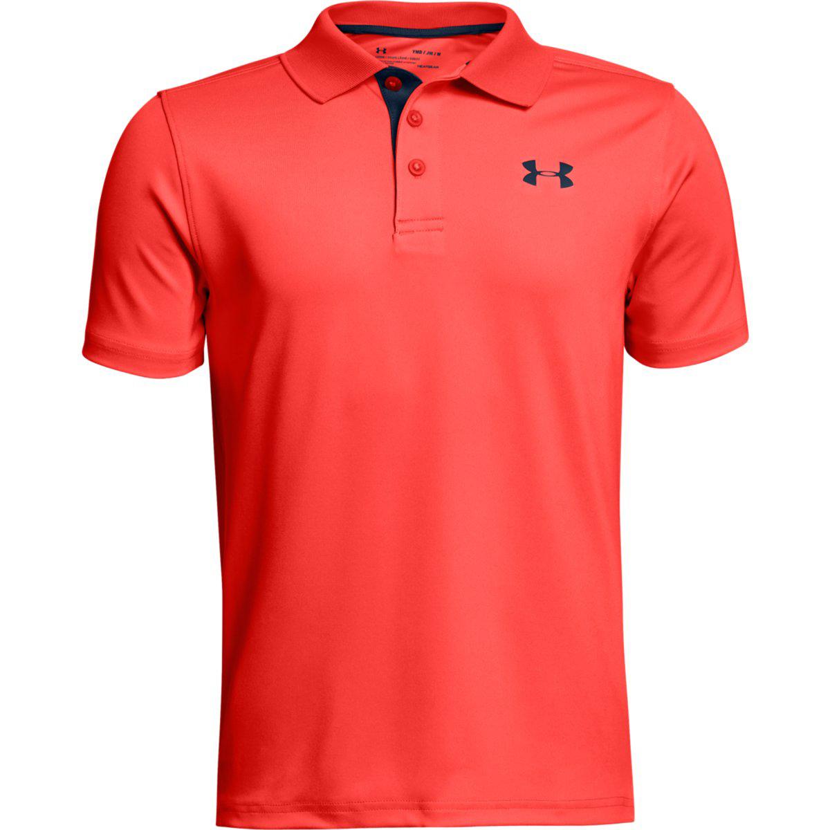 Under Armour Boys' Performance Polo Short-Sleeve Shirt - Orange, XL