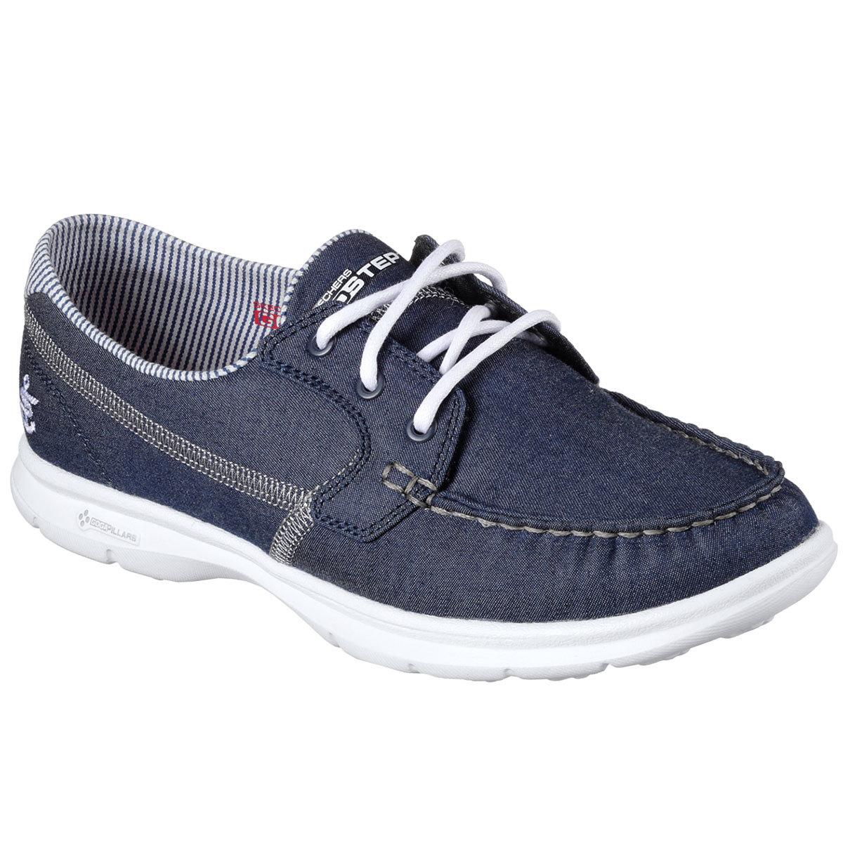 Go Step- Indigo Boat Shoes, Denim