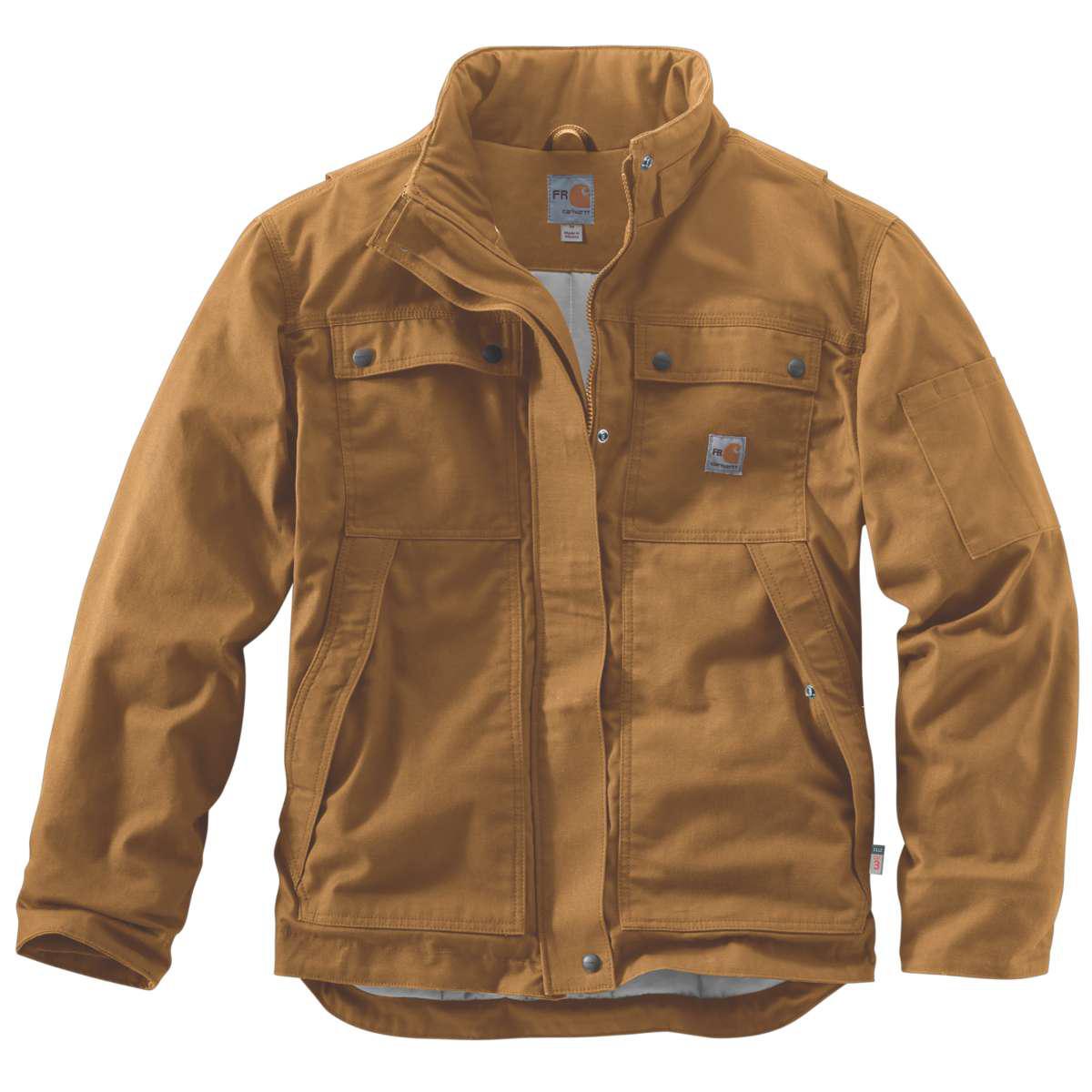 Carhartt Men's Full Swing Quick Duck Coat, Extended Sizes - Brown, L TALL