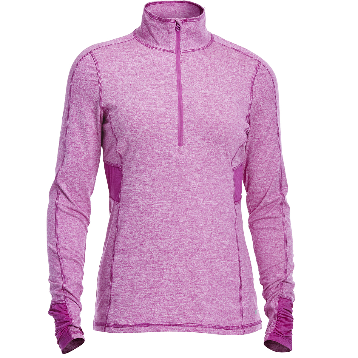 Layer 8 Women's Striated Cold Gear 1/4 Zip Pullover - Red, S