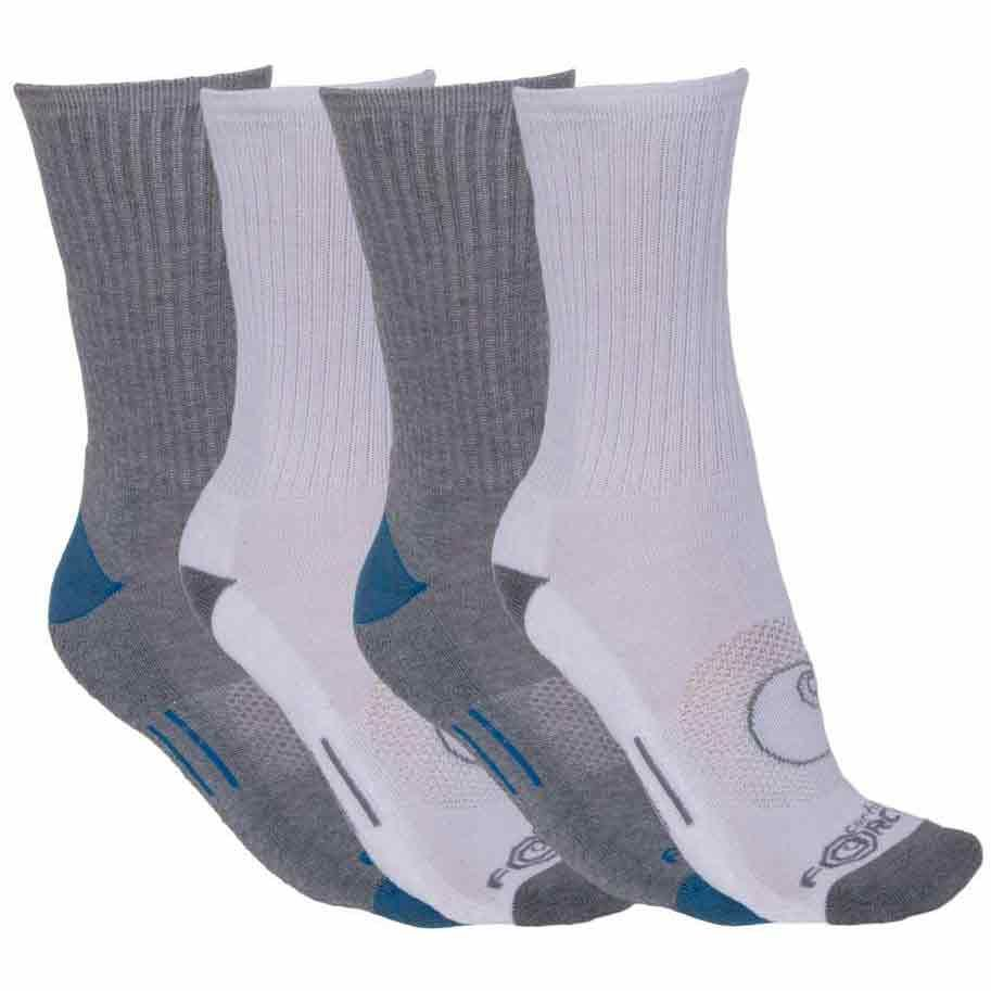 Carhartt Men's Forcea(R) Crew Socks, 4 Pack - White, L
