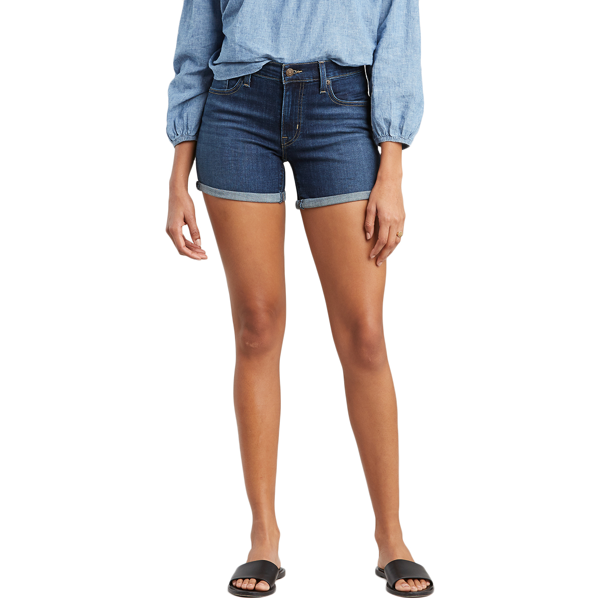 Levi's Women's Mid-Length Shorts - Blue, 28