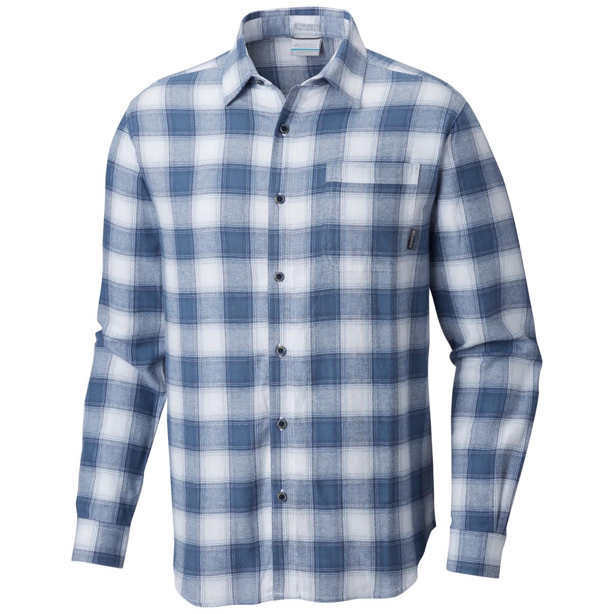 Columbia Men's Boulder Ridge Long-Sleeve Flannel Shirt - Blue, XXL