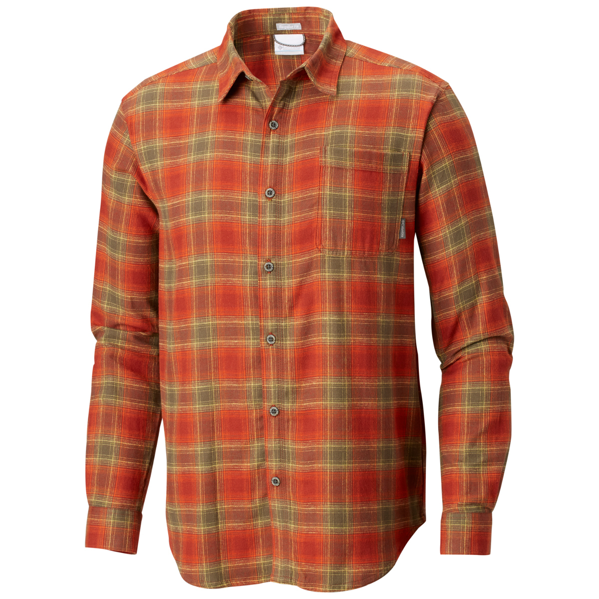 Columbia Men's Boulder Ridge Long-Sleeve Flannel Shirt - Red, M