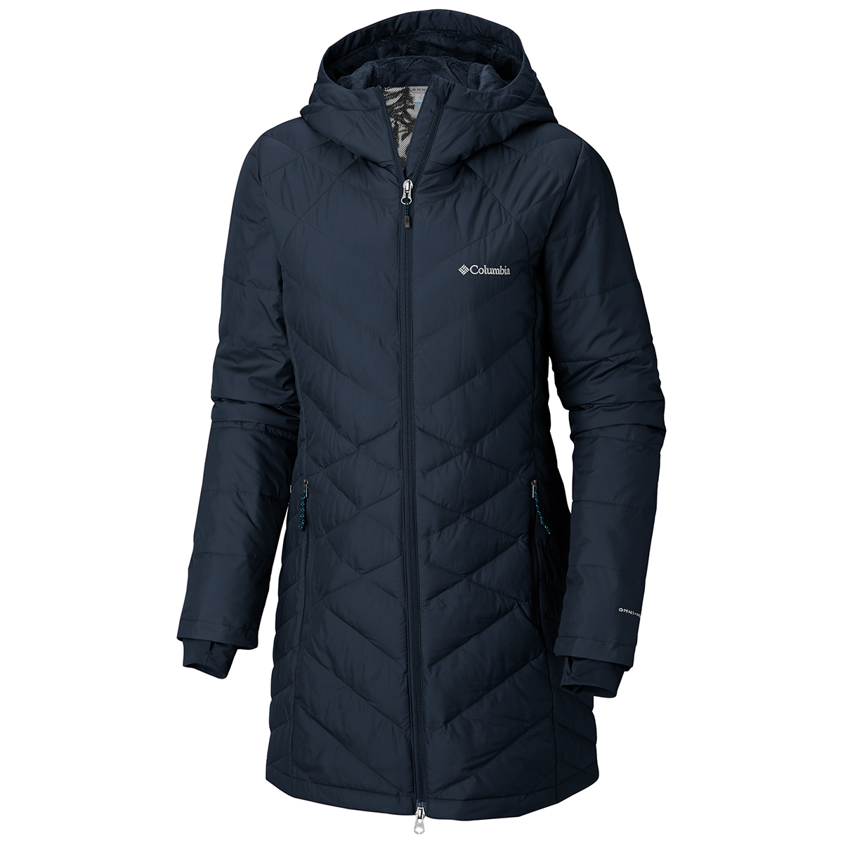 Columbia Women's Heavenly Long Hooded Jacket - Blue, S