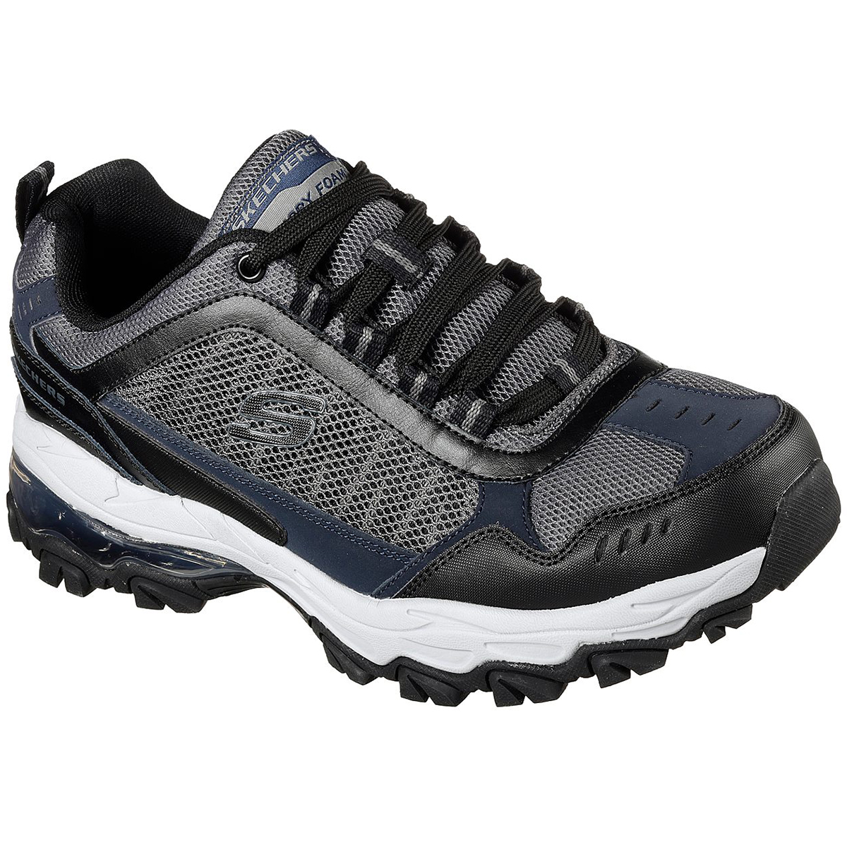 Skechers Men's After Burn M. Fit - Air Sneakers, Grey/black, Wide