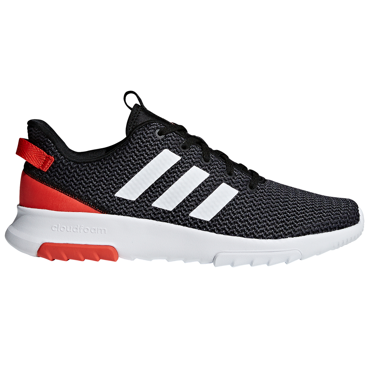 Adidas Men's Neo Cloudfoam Racer Tr Running Shoes - Black, 12