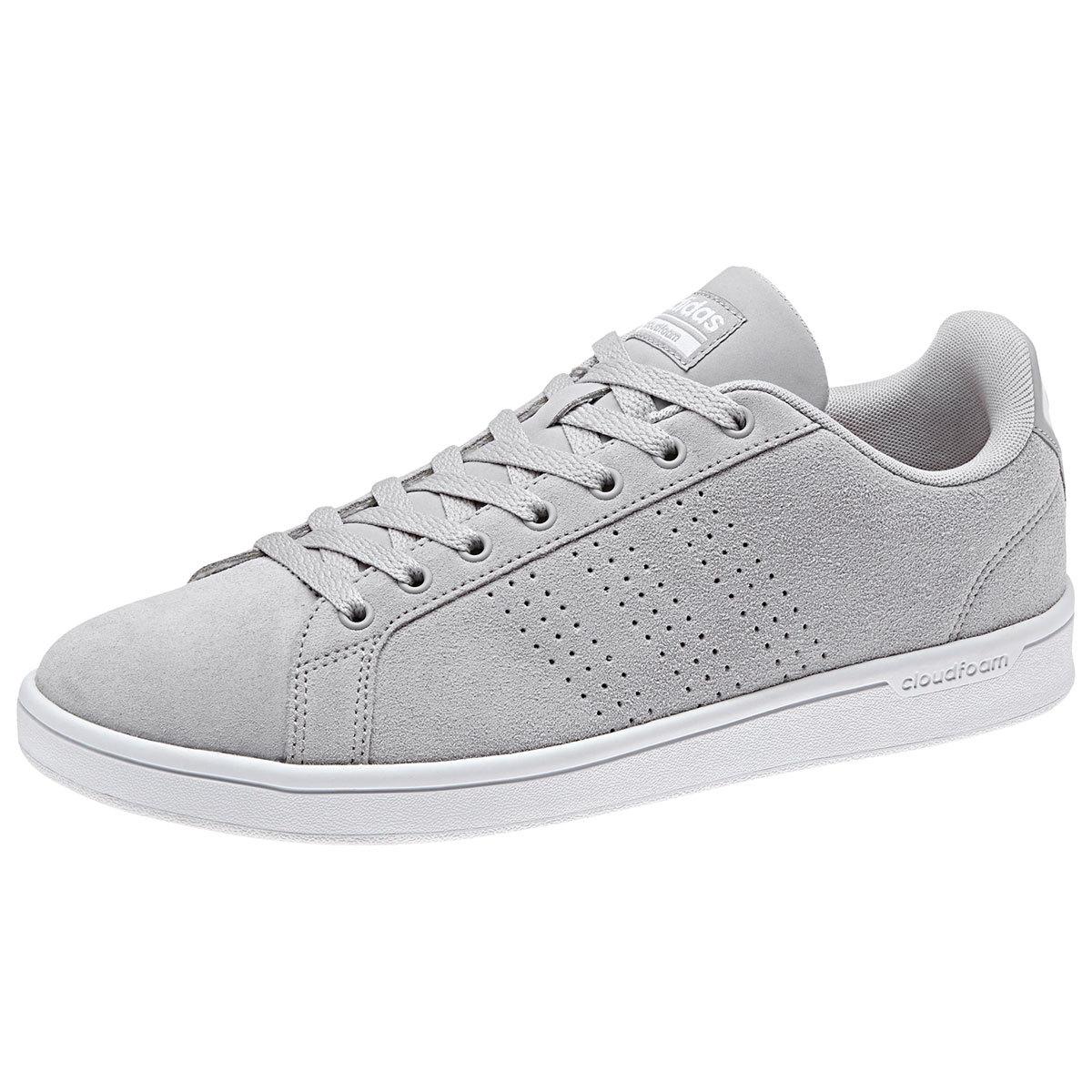 ADIDAS Men's Cloudfoam Advantage Clean Skate Shoes, Clean Grey/Grey Two/White