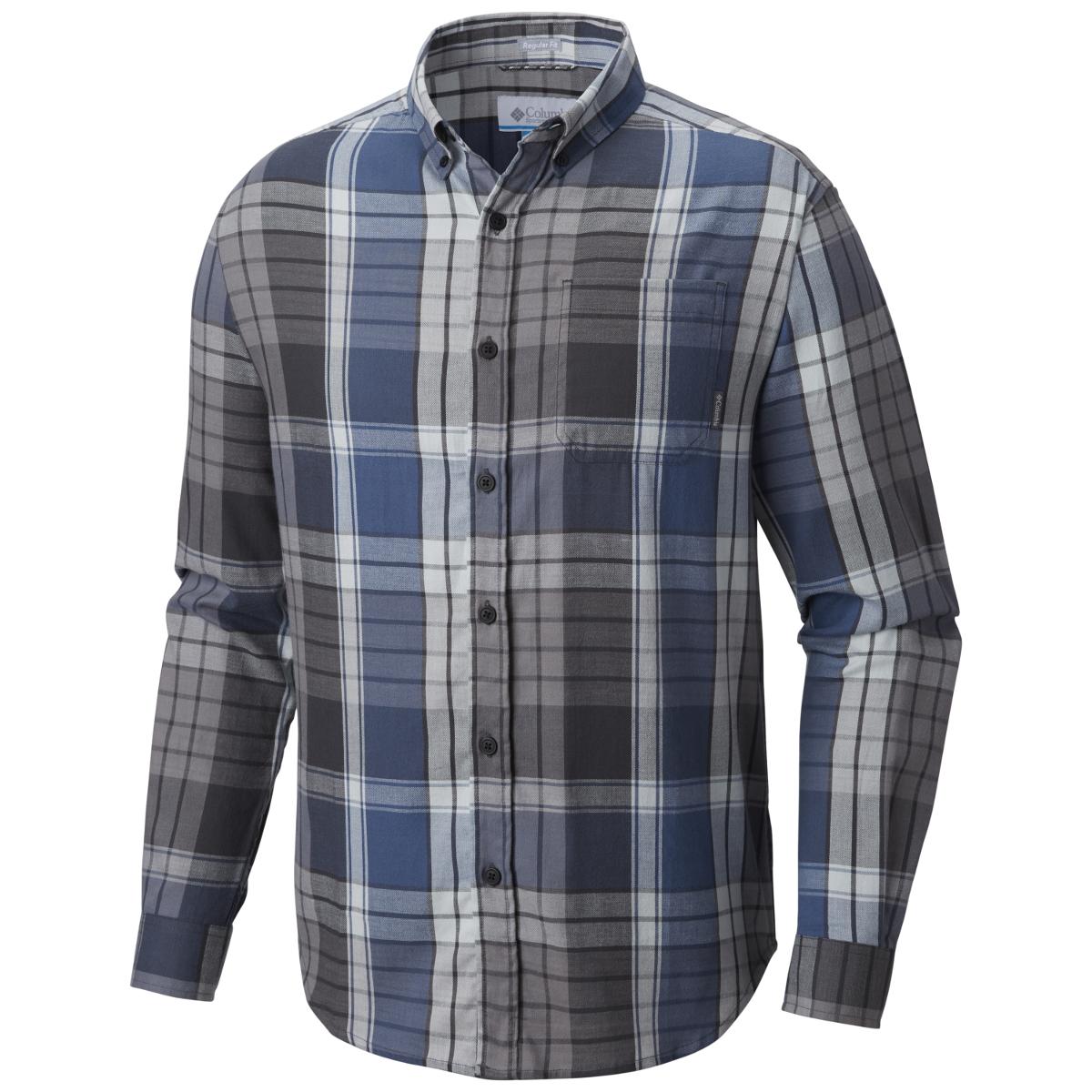 Columbia Men's Cooper Lake Plaid Long-Sleeve Shirt - Blue, M