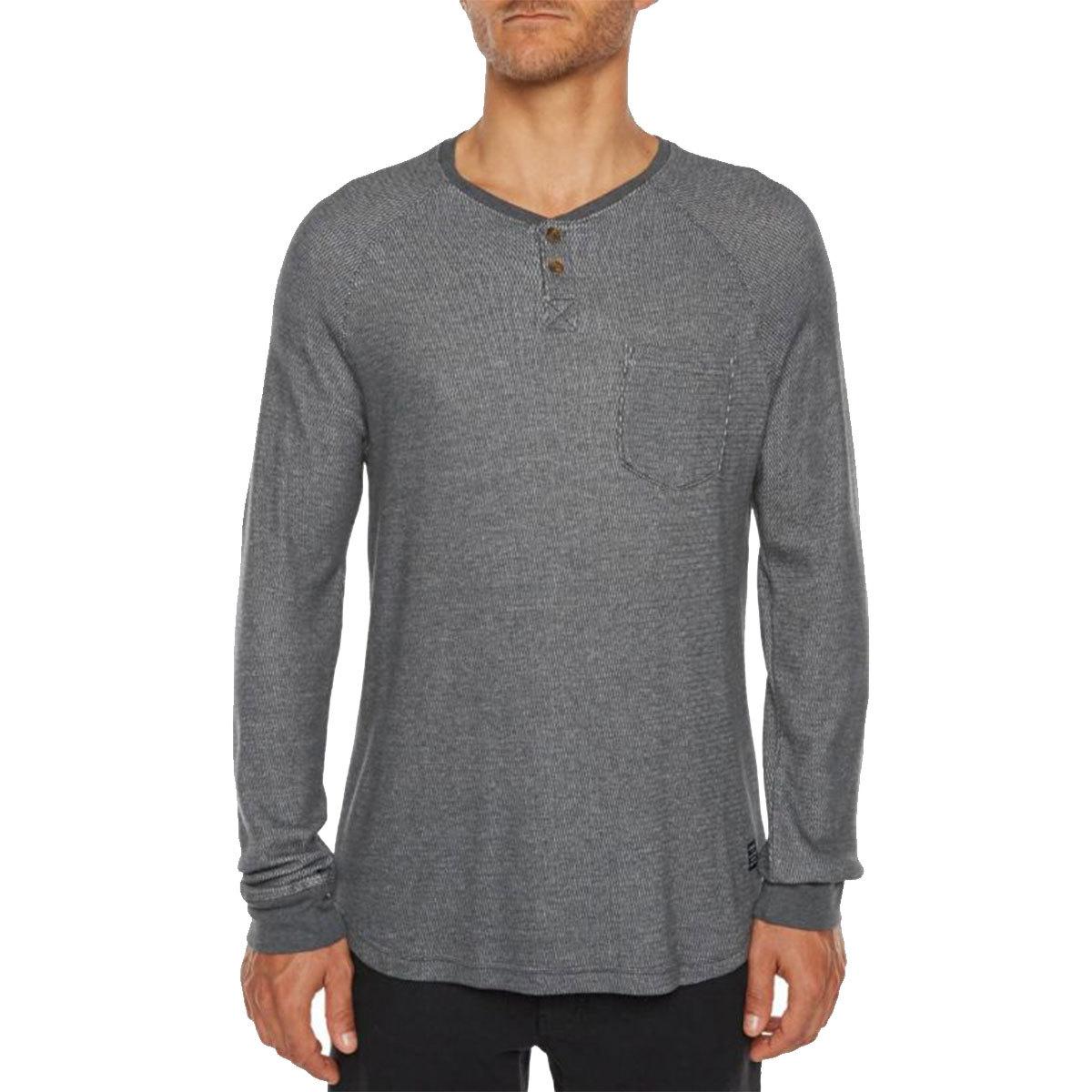 O'neill Guys' Nelson Knit Long-Sleeve Henley - Black, XL