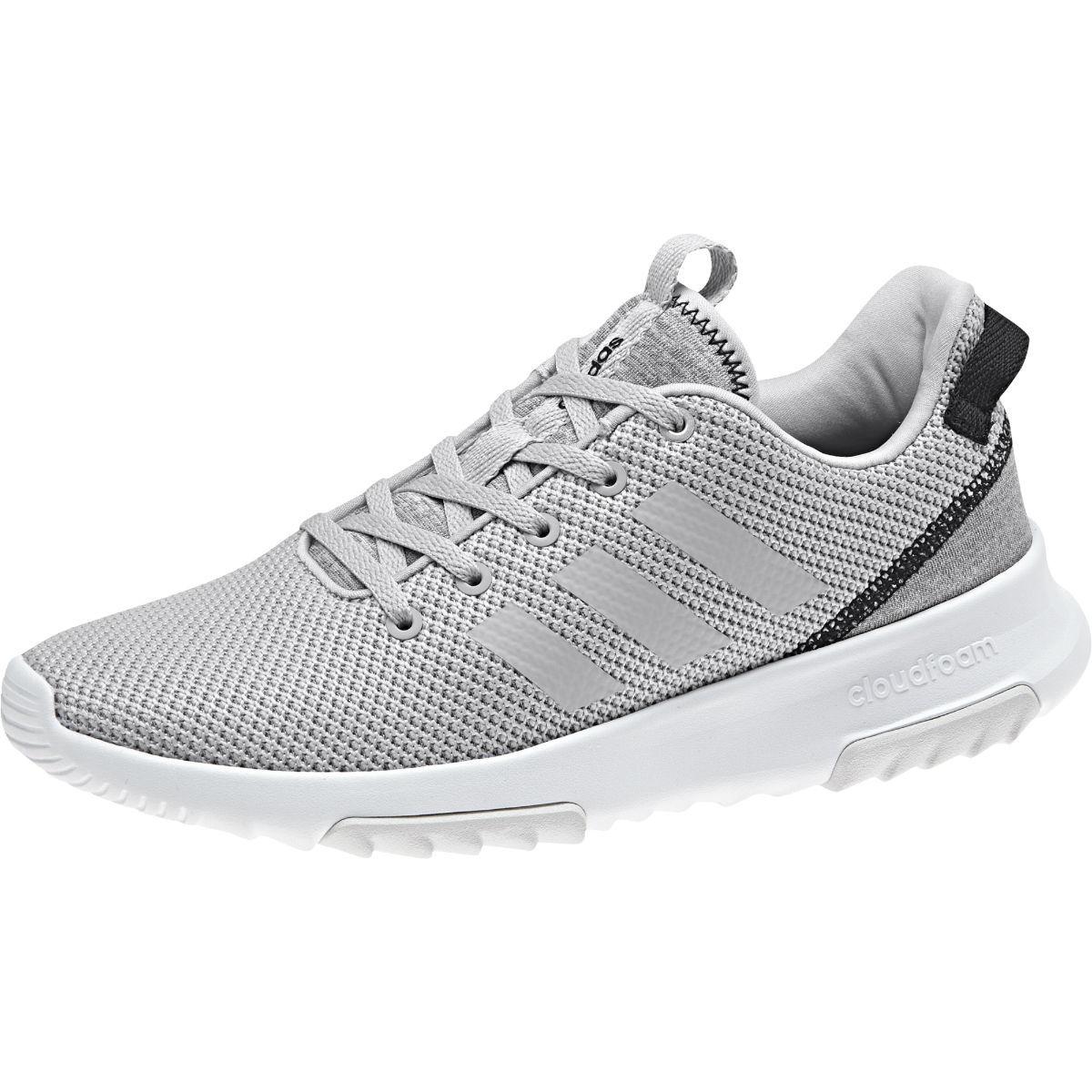 ADIDAS Women's Neo Cloudfoam Racer TR Running Shoes, Grey/Black