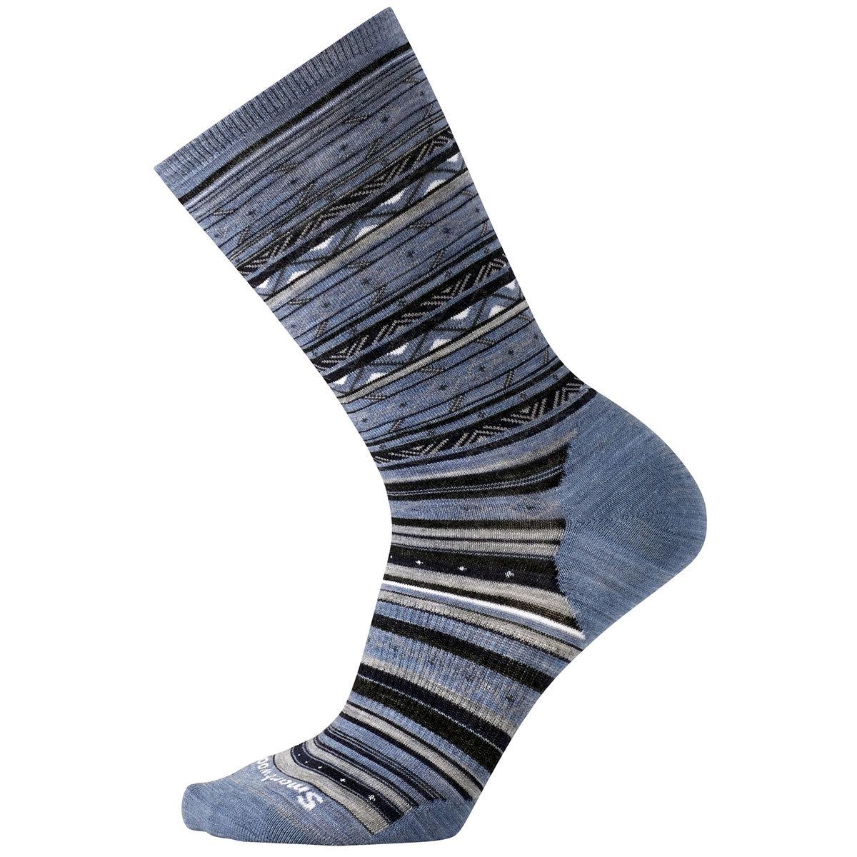 Smartwool Women's Ethno Graphic Crew Socks - Blue, S