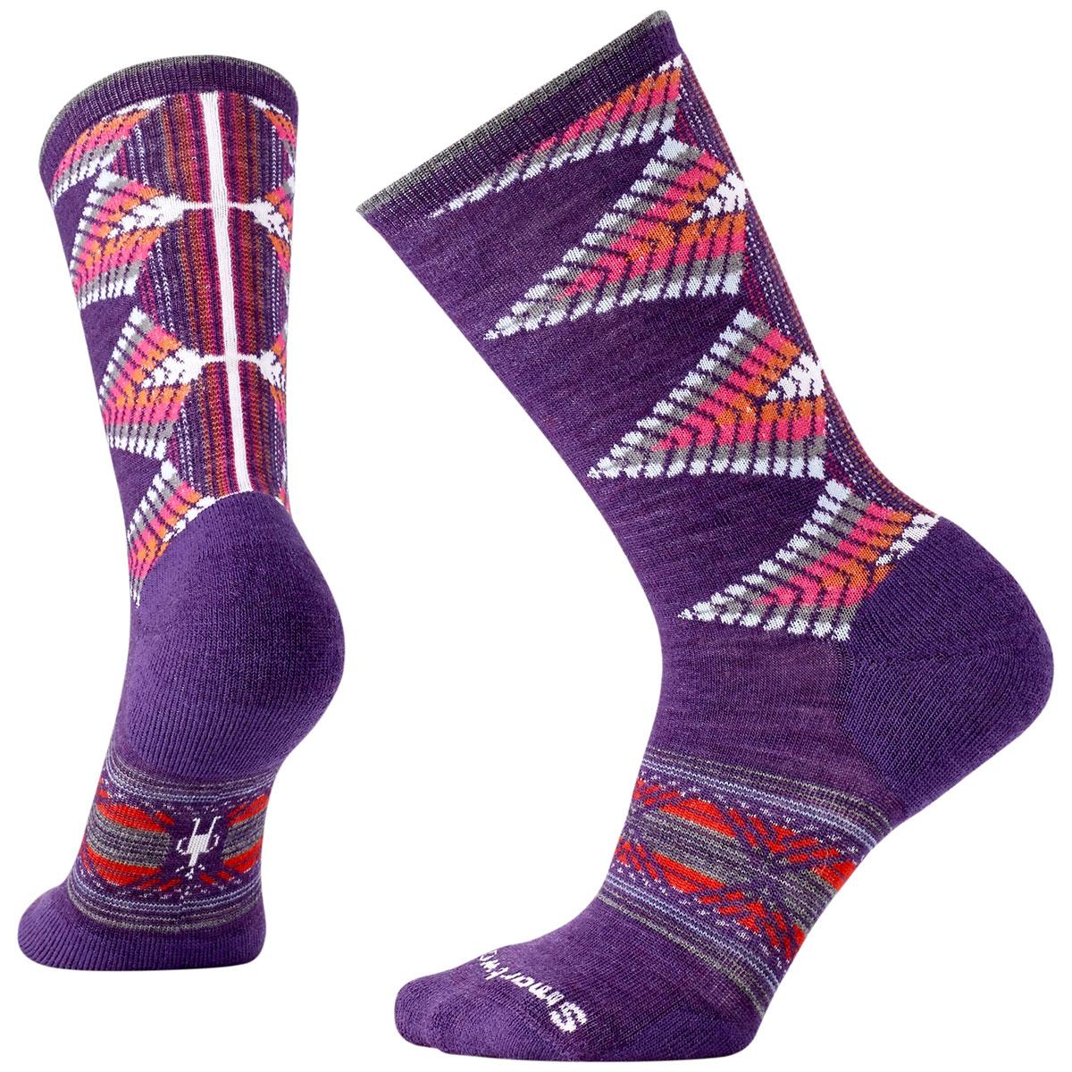 Smartwool Women's Tiva Crew Socks - Purple, L