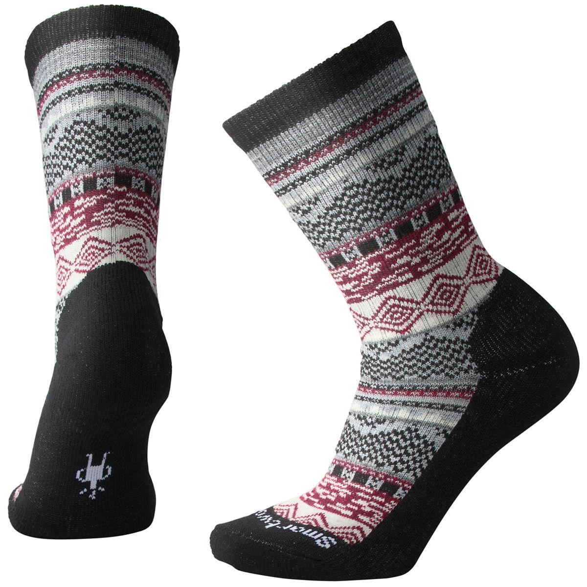 Smartwool Women's Dazzling Wonderland Crew Socks - Black, L