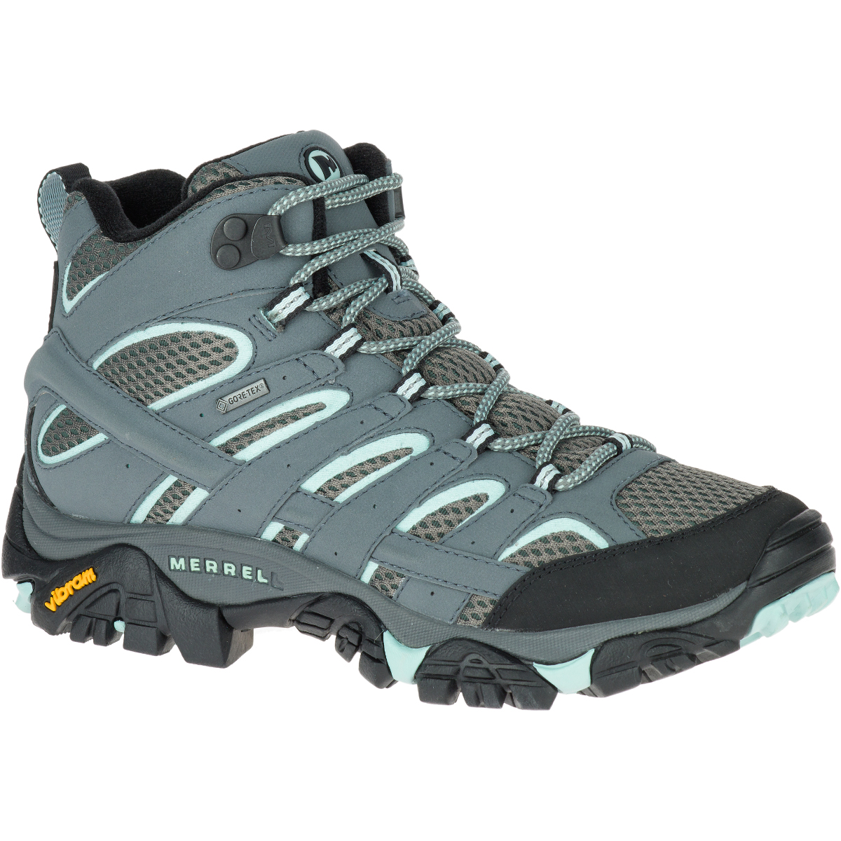 Merrell Women's Moab 2 Gore-Tex Waterproof Hiking Boots,sedona Sage, Wide - Black, 9