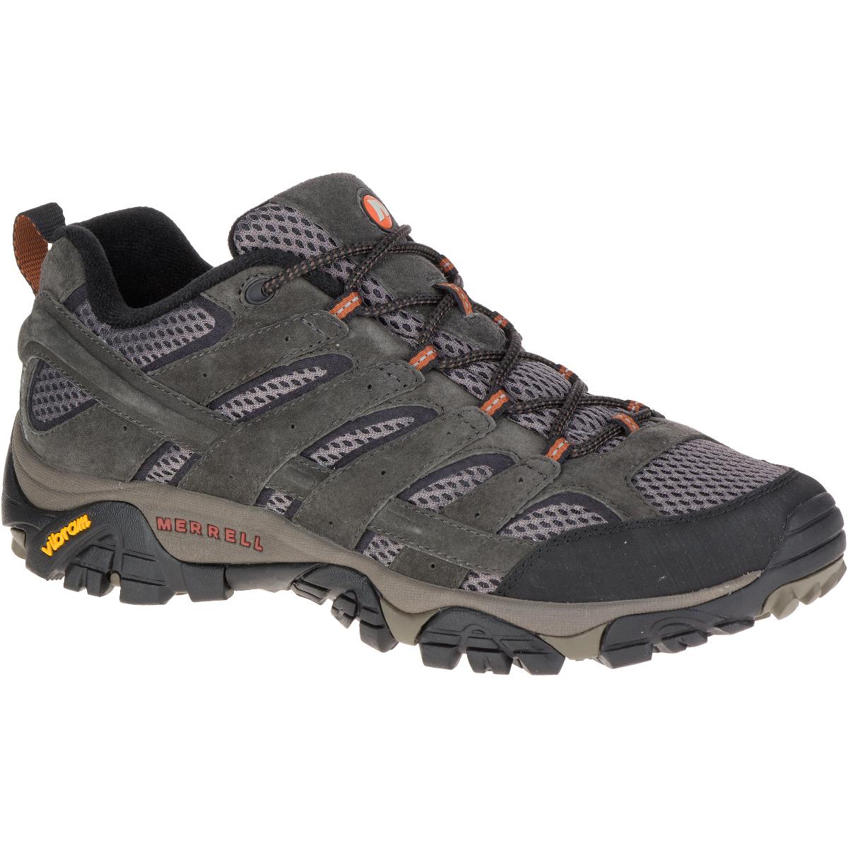 Merrell Men's Moab 2 Ventilator Hiking Shoes, Beluga - Black, 14