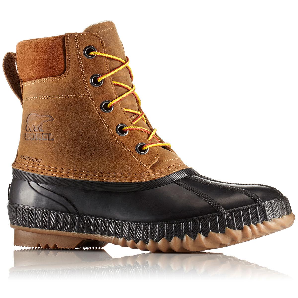 Sorel Men's 8 In. Cheyanne Ii Lace-Up Waterproof Duck Boots, Chipmunk - Brown, 14