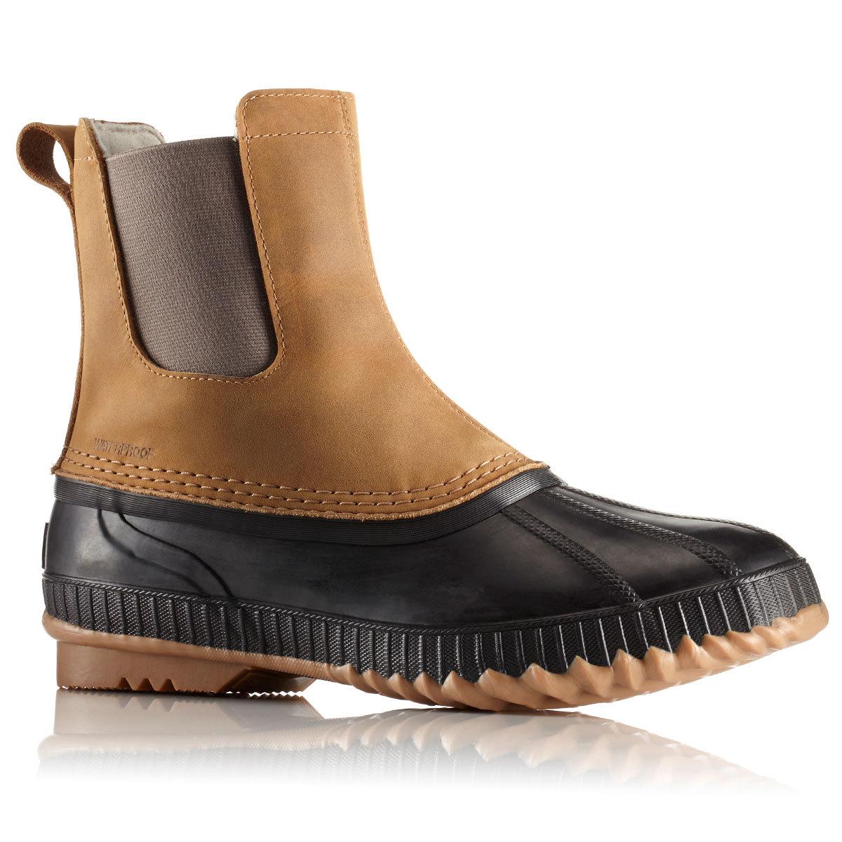 Sorel Men's 8 In. Cheyanne Ii Chelsea Waterproof Duck Boots, Elk - Brown, 14
