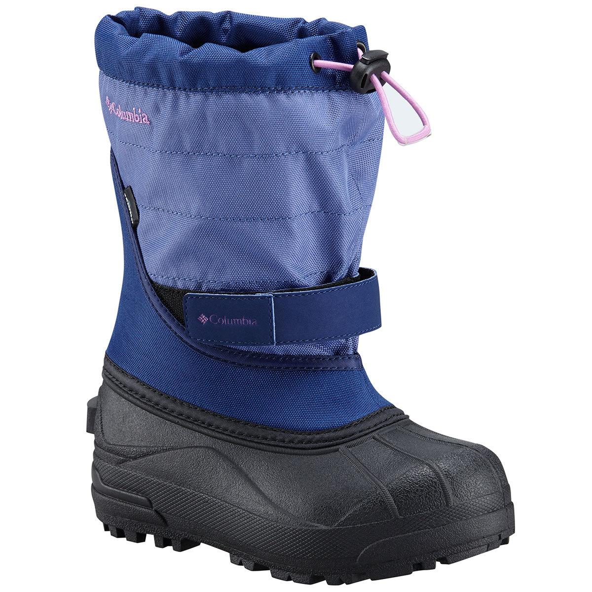 Columbia Girls' Powderbug Plus Ii Waterproof Snow Boots, Eve/northern Lights - Purple, 4