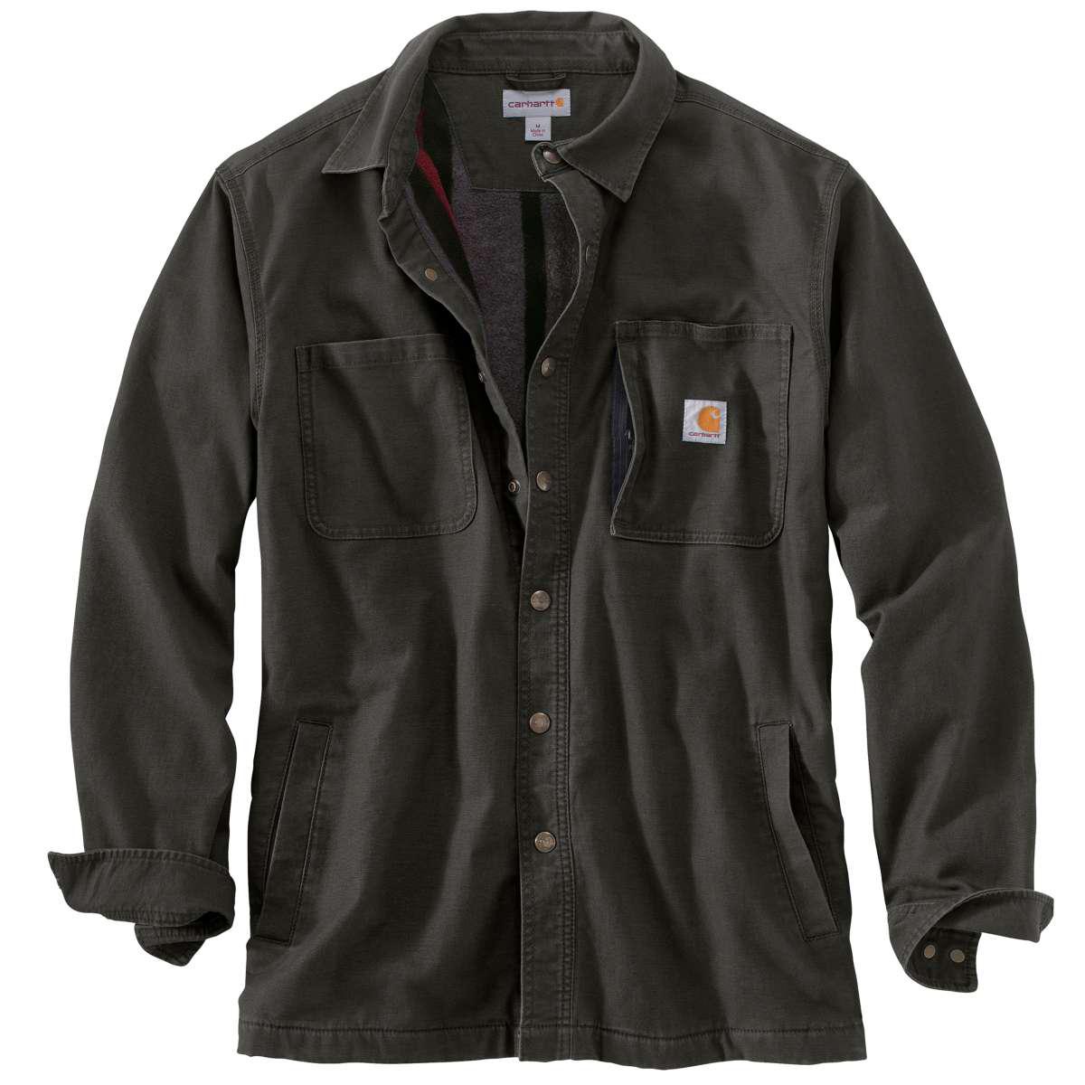 Carhartt Men's Rugged Flex Rigby Fleece-Lined Shirt Jacket - Green, S