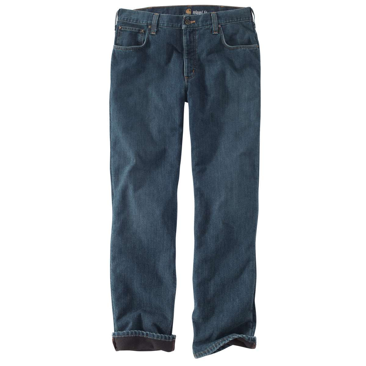 Carhartt Men's Relaxed Fit Holter Jean/fleece Lined Jean Pant - Blue, 32/34