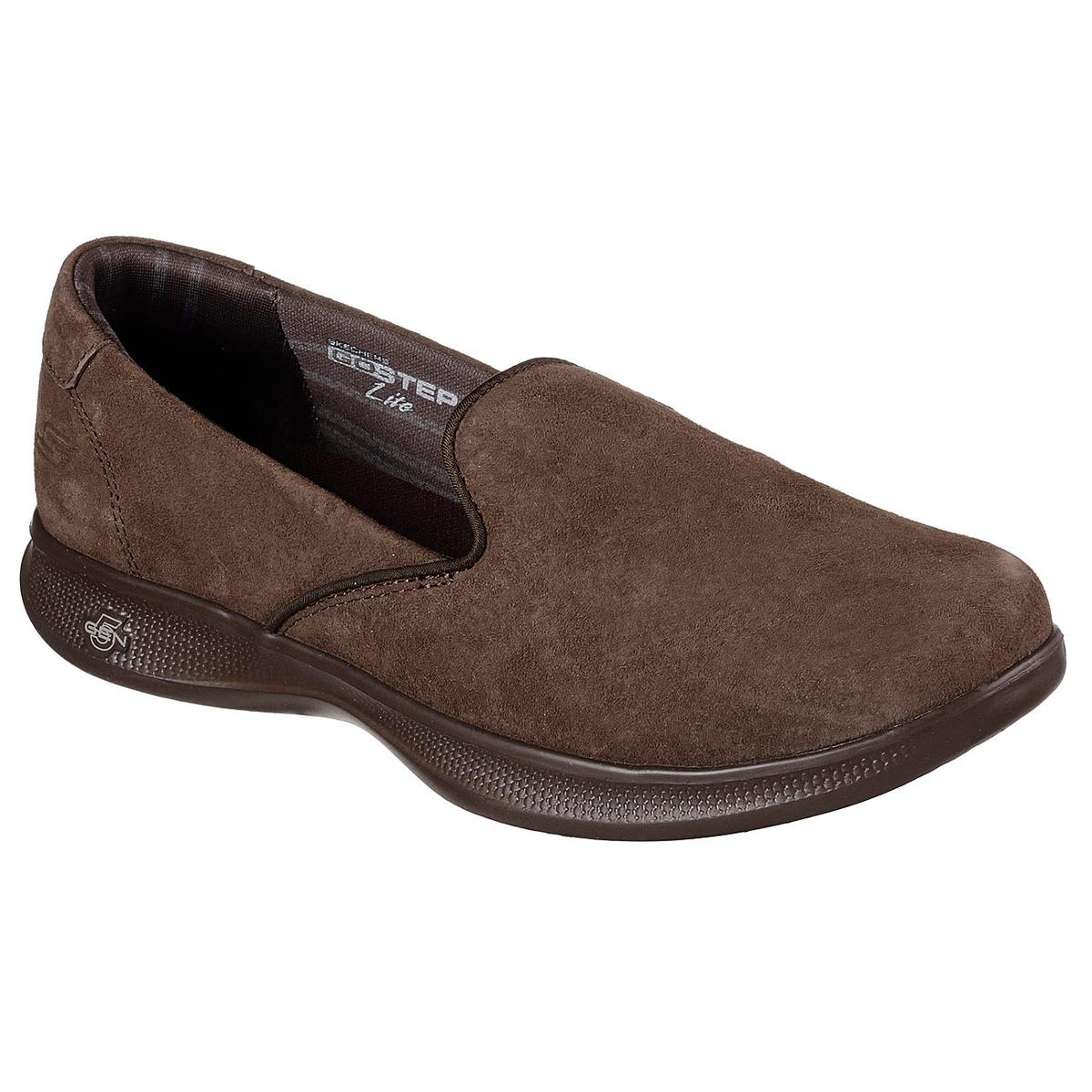 Skechers Women's Skechers Go Step Lite -  Indulge Casual Slip-On Shoes - Brown, 8