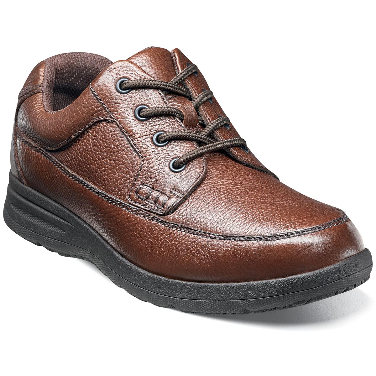 Nunn Bush Men's Cam Moc Toe Oxford Shoes, Extra Wide - Brown, 10