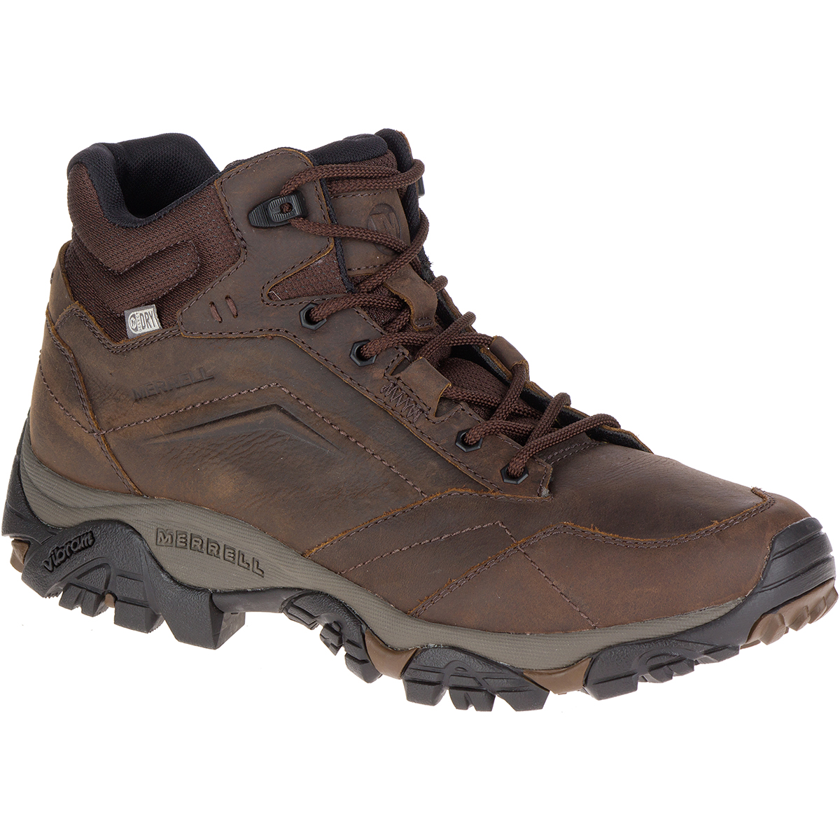 Merrell Men's Moab Adventure Mid Waterproof Hiking Boots, Dark Earth, Wide - Brown, 9.5