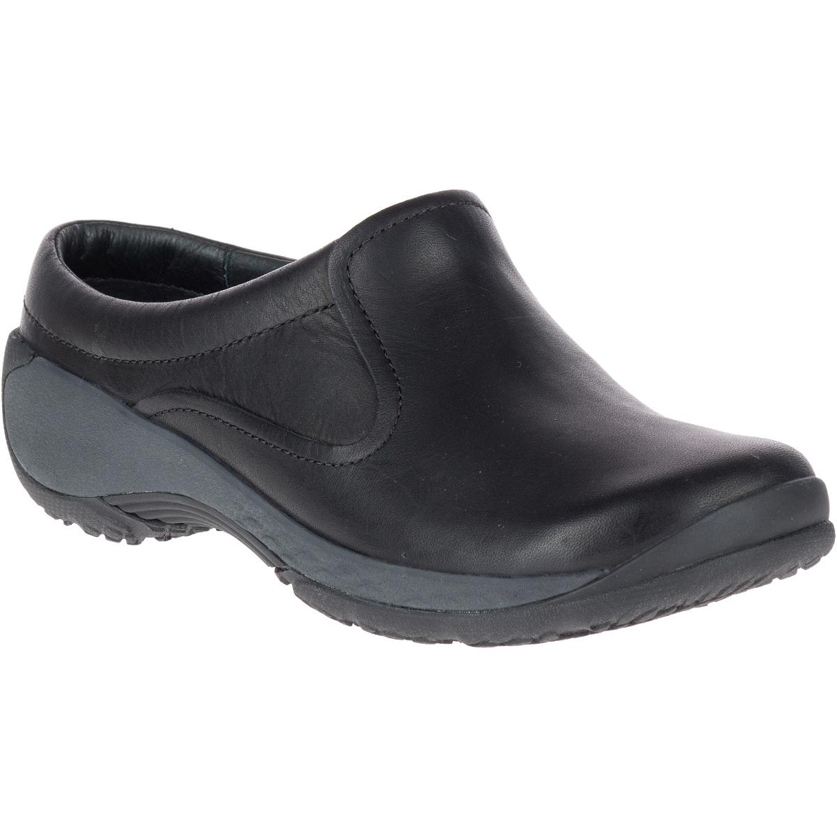 Merrell Women's Encore Q2 Slide Leather Shoes - Black, 10