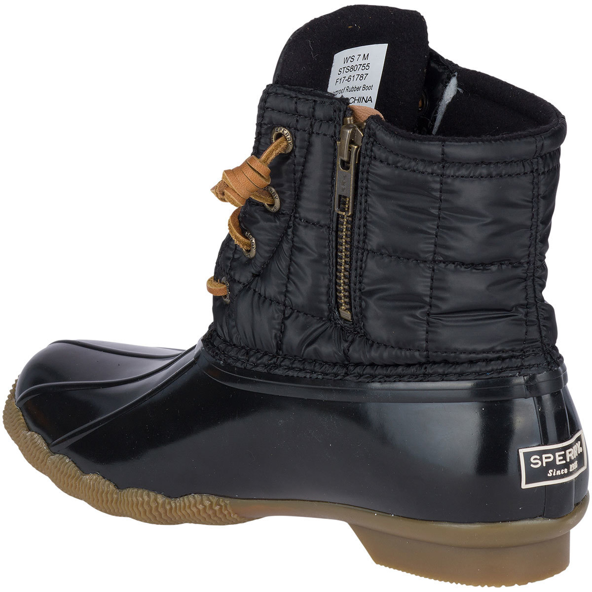 Saltwater Shiny Quilted Duck Boots