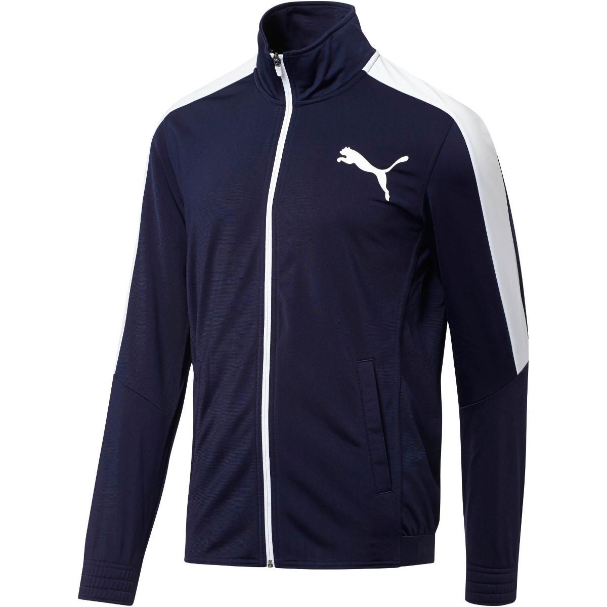 Puma Men's Contrast Track Jacket - Blue, XL