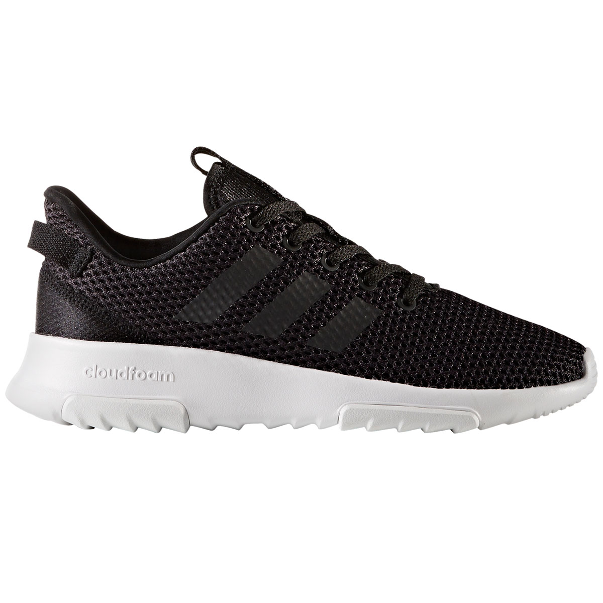 ADIDAS Boys' Neo Cloudfoam Racer TR Running Shoes, Black/White