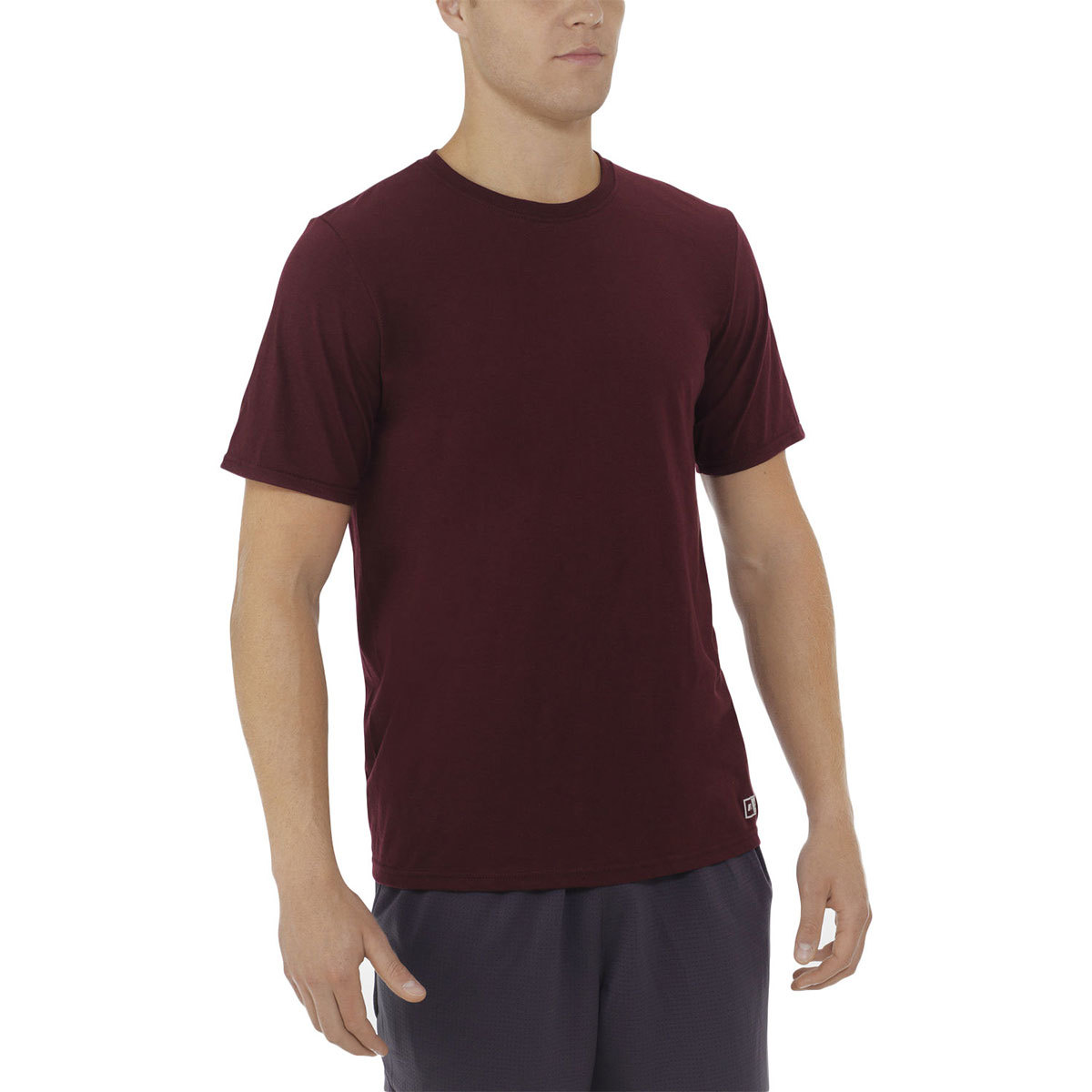 Russell Men's Essential Short-Sleeve Tee - Red, L