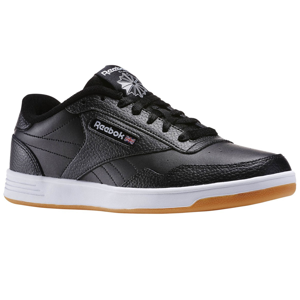 Reebok Men's Club Memt Gum Sole Sneakers - Black, 10