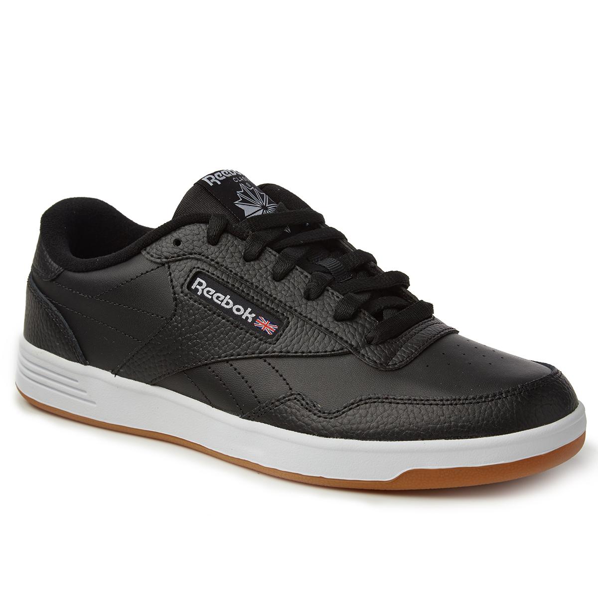 Reebok Men's Club Memt Gum Sole Sneakers - Black, 10.5