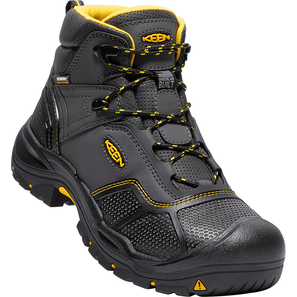 Keen Men's Logandale Waterproof Steel Toe Boot - Black, 8.5