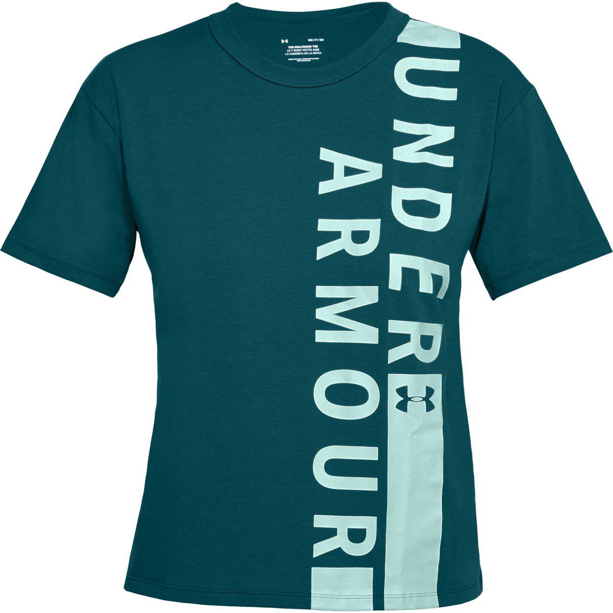 Under Armour Women's Ua Girlfriend Wordmark Crew Short-Sleeve Tee - Green, S