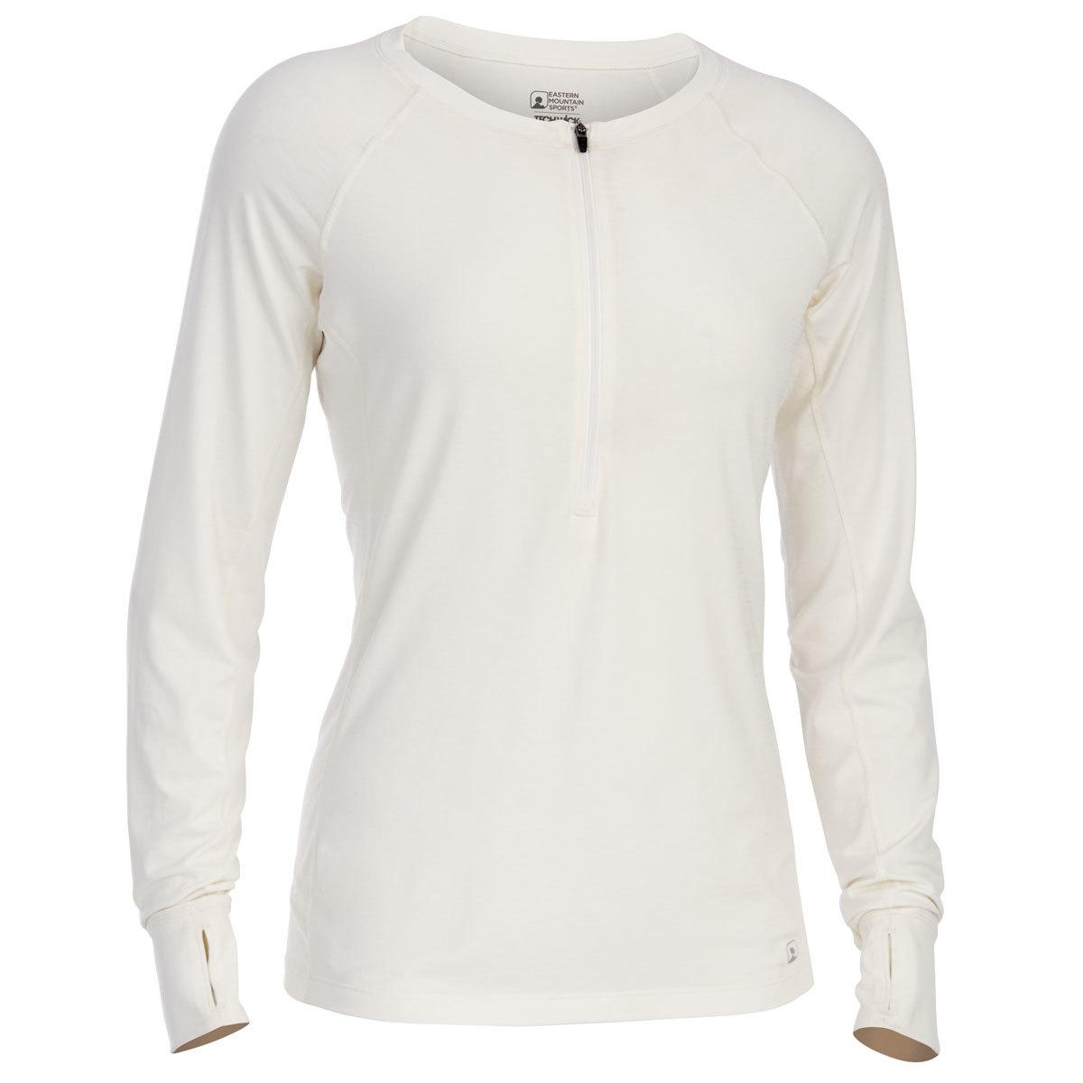 Ems Women's Techwick Hydro Upf Half Zip - White, XL