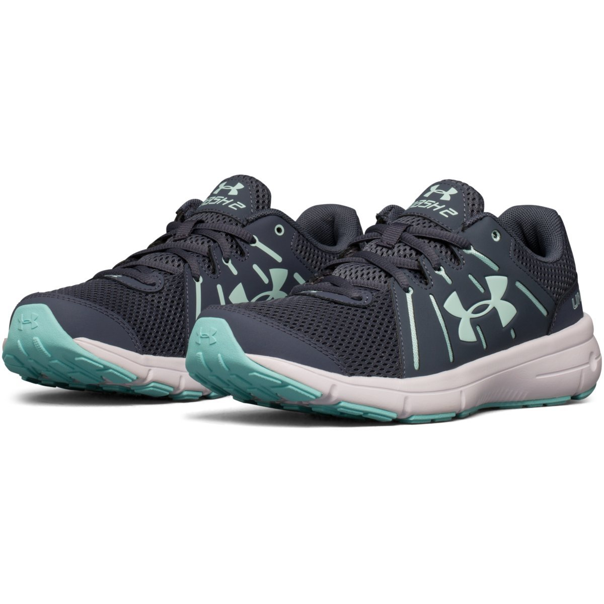newest 47dad 042d5 UNDER ARMOUR Women's Dash RN 2 Running Shoes, Grey/Mint ...