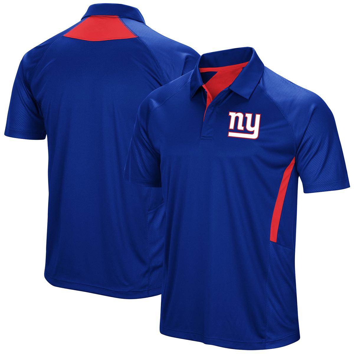 New York Giants Men's Game Day Club Poly Short-Sleeve Polo Shirt - Blue, XL