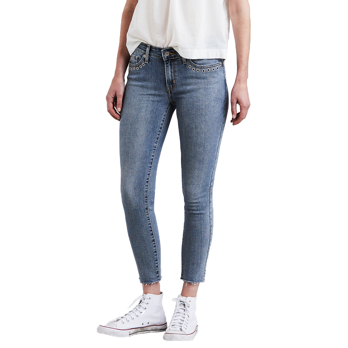 Levi's Women's 711 Skinny Ankle Jeans - White, 29