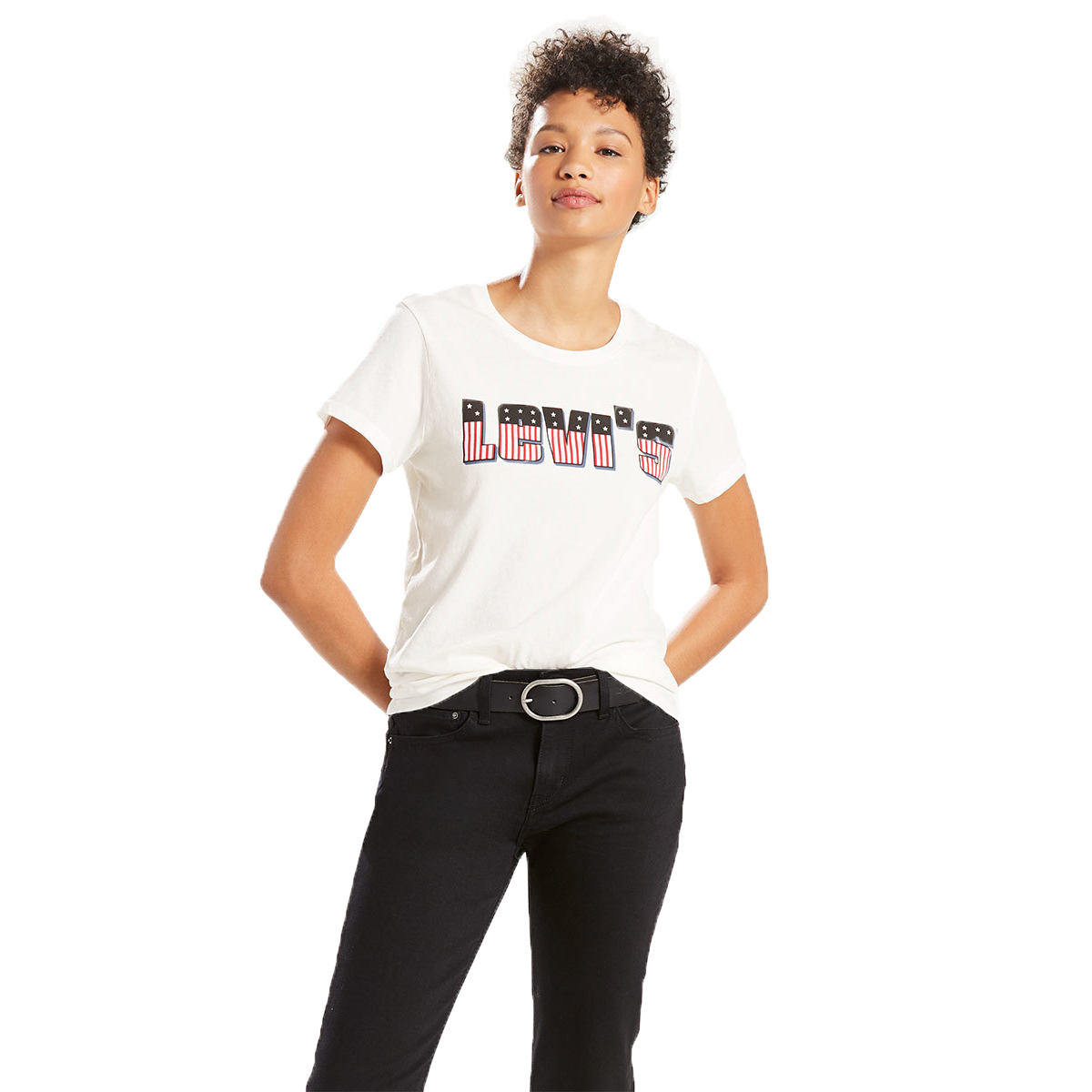 Levi's Women's Perfect Graphic Tee - White, L