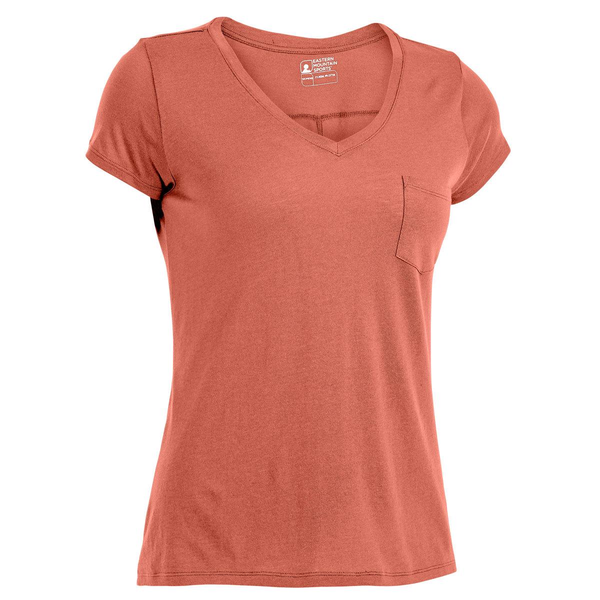 Ems Women's Serenity V-Neck Short-Sleeve Pocket Tee - Red, XL