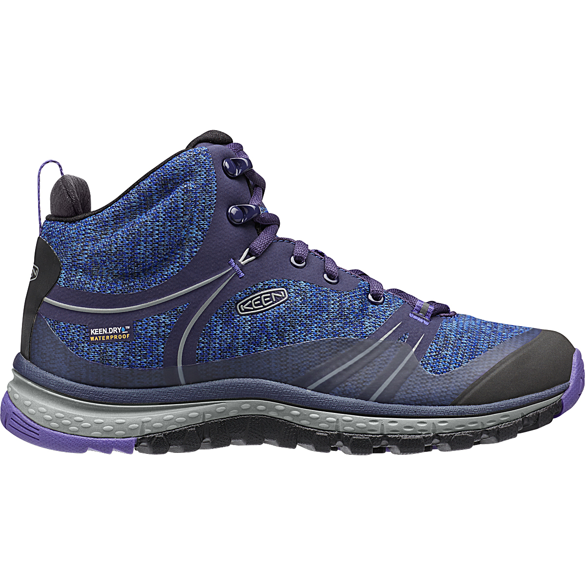 Keen Women's Terradora Waterproof Mid Hiking Boots - Blue, 6.5