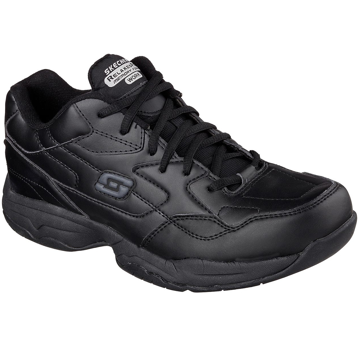Skechers Men's Work Relaxed Fit: Felton -  Altair Work Shoes - Black, 8.5