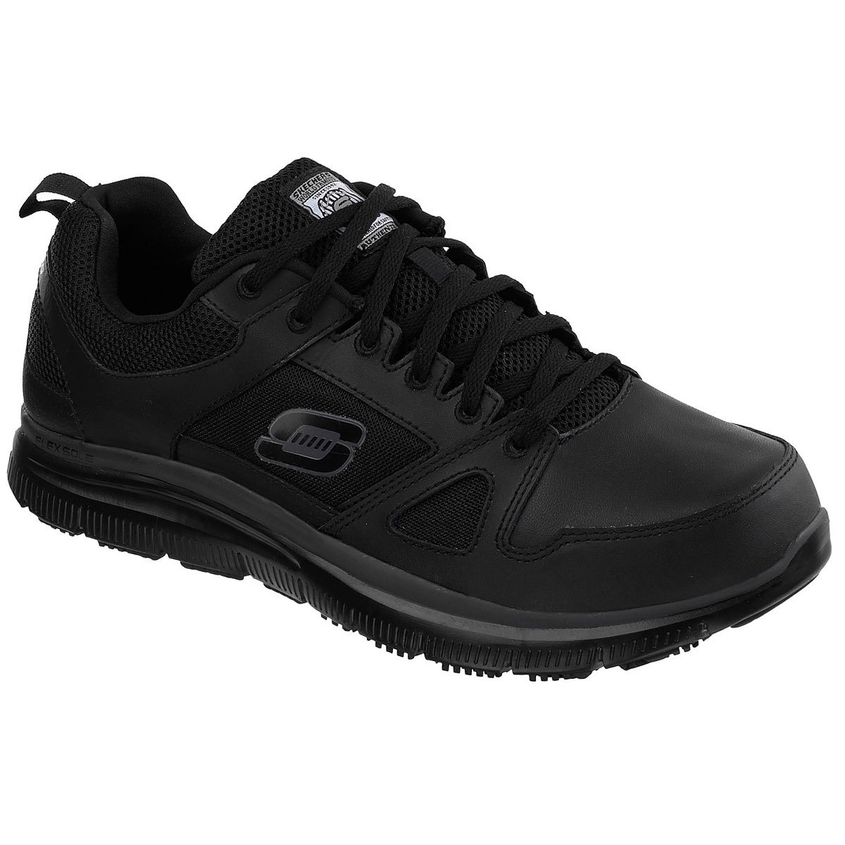 Skechers Men's Work Relaxed Fit: Flex Advantage Sr Work Shoes - Black, 8.5