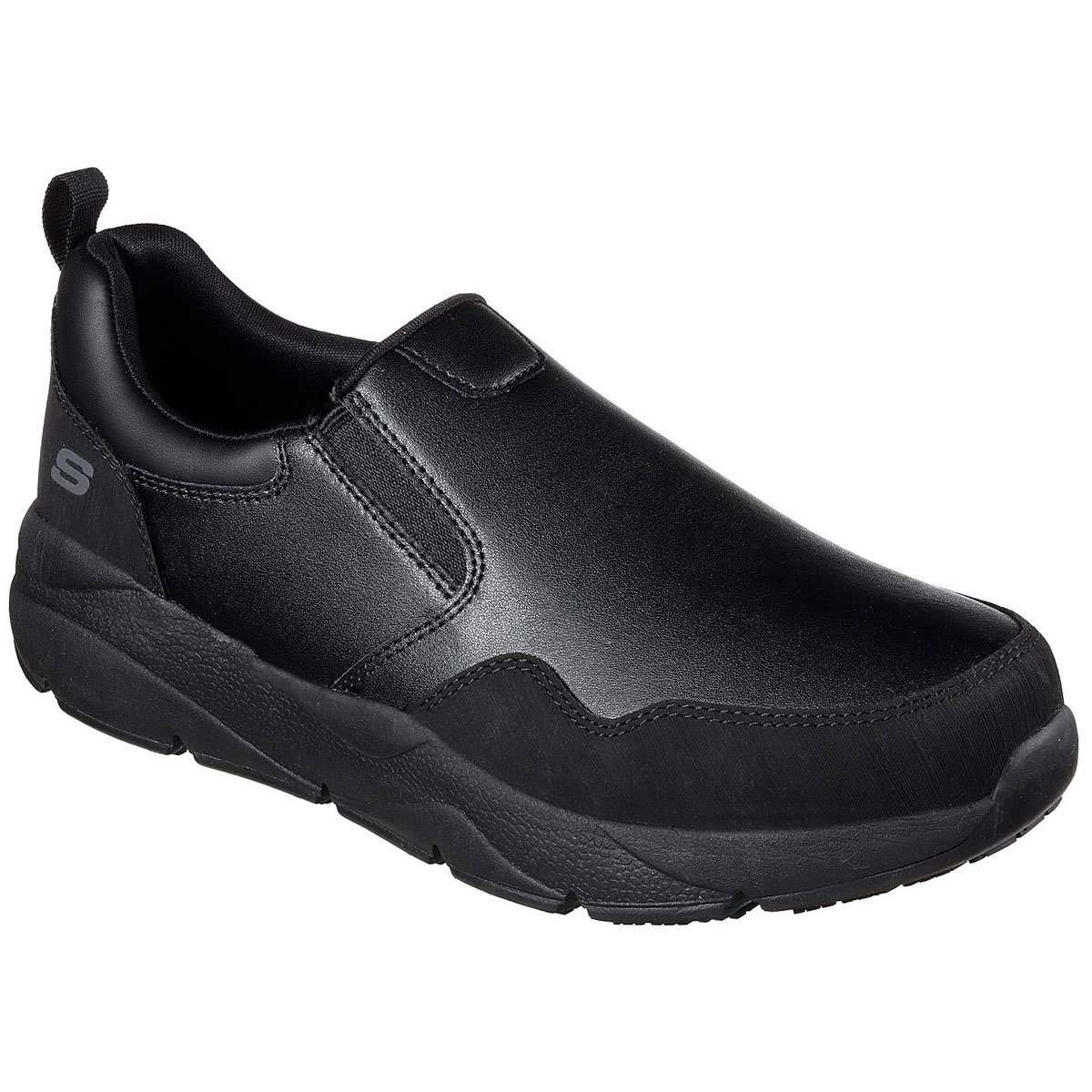 Skechers Men's Work: Resterly Sr Slip-On Work Shoes - Black, 10.5