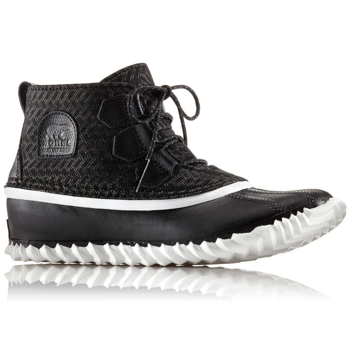 Sorel Women's Out N About Low Waterproof Rain Boots - Black, 8
