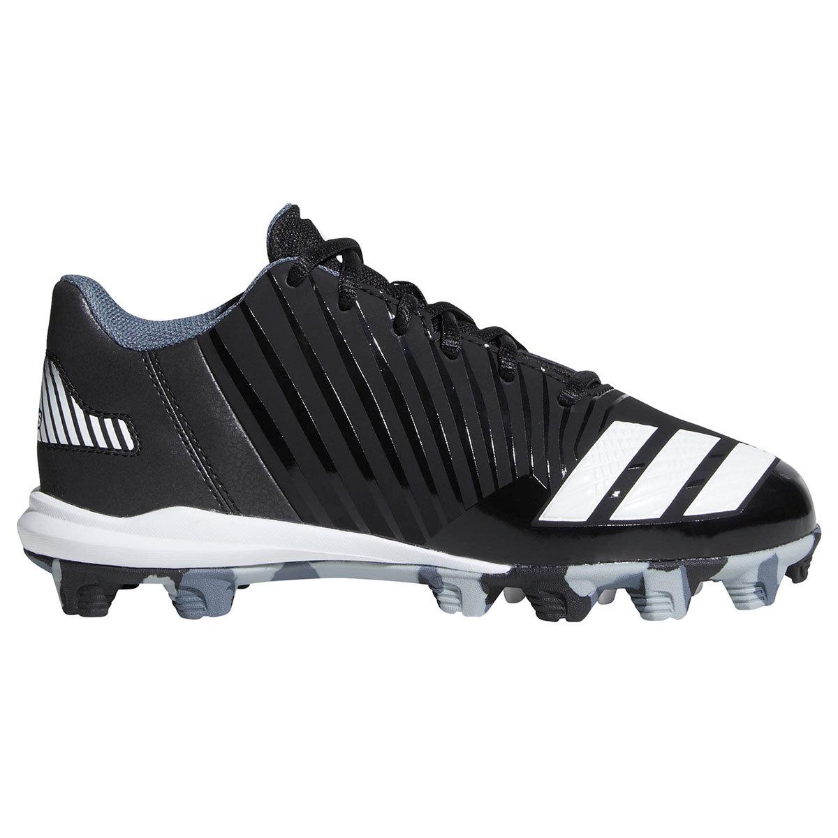Adidas Kids' Icon Molded Baseball Cleats - Black, 12