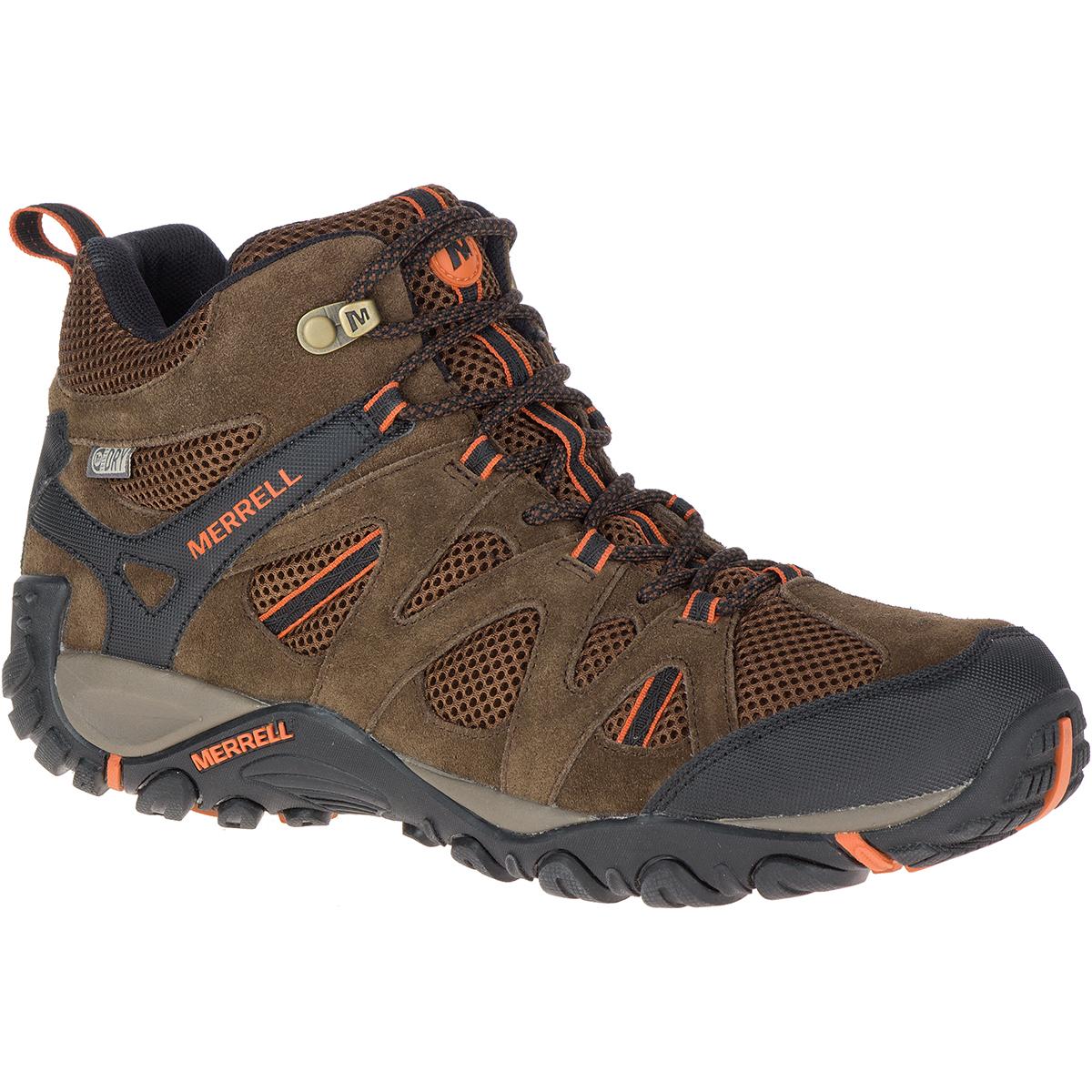 Merrell Men's Deverta Mid Waterproof Hiking Boots - Brown, 12